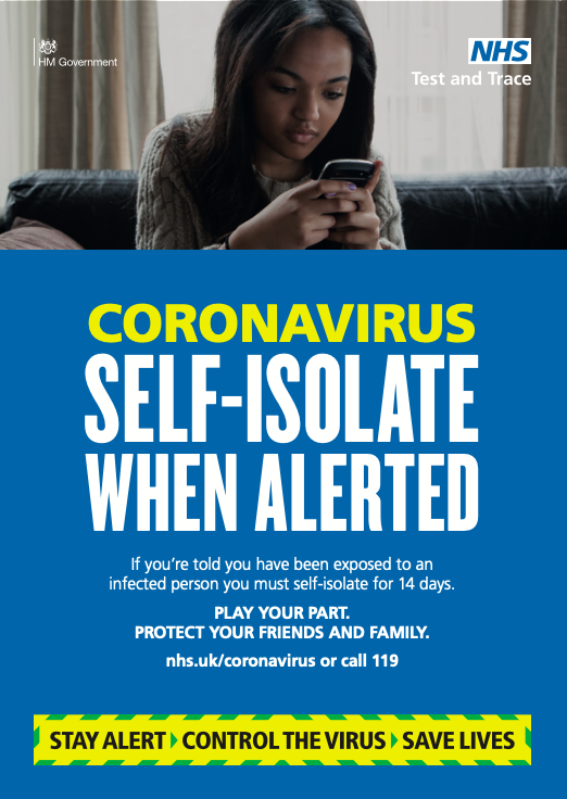 Coronavirus Self Isolate When Alerted