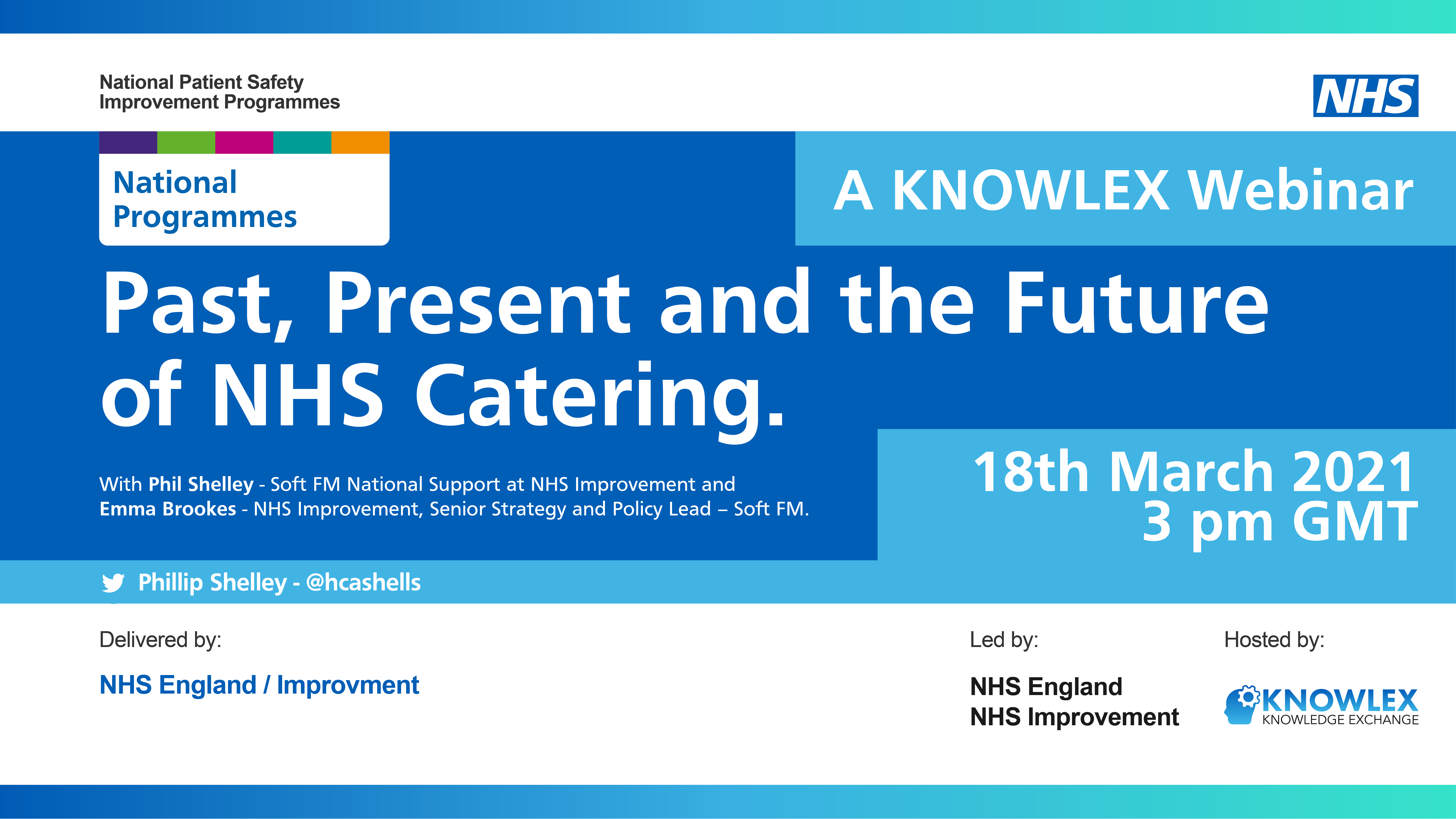 Philip Shelley and Emma Brookes will be presenting this webinar on Past, Present and the Future of NHS Catering